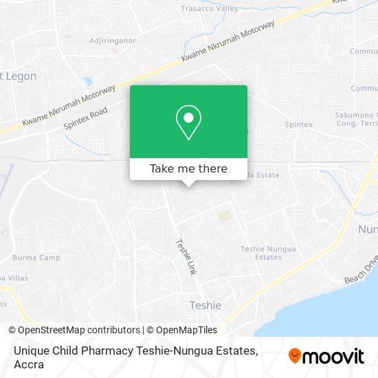 Unique Child Pharmacy Teshie-Nungua Estates map
