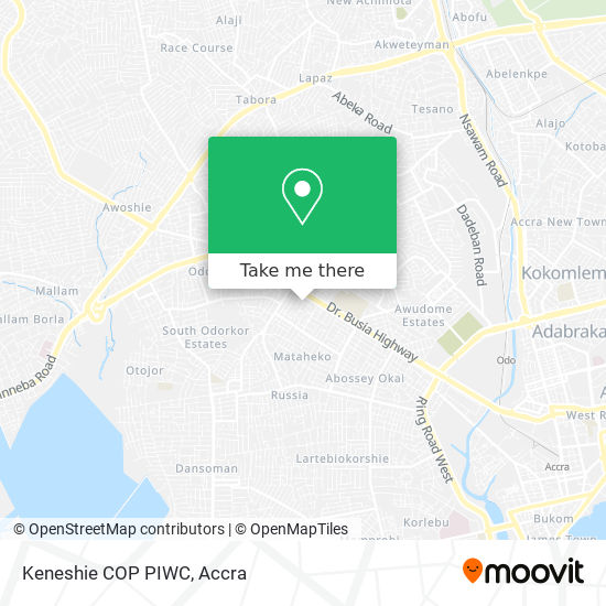 Keneshie COP PIWC map