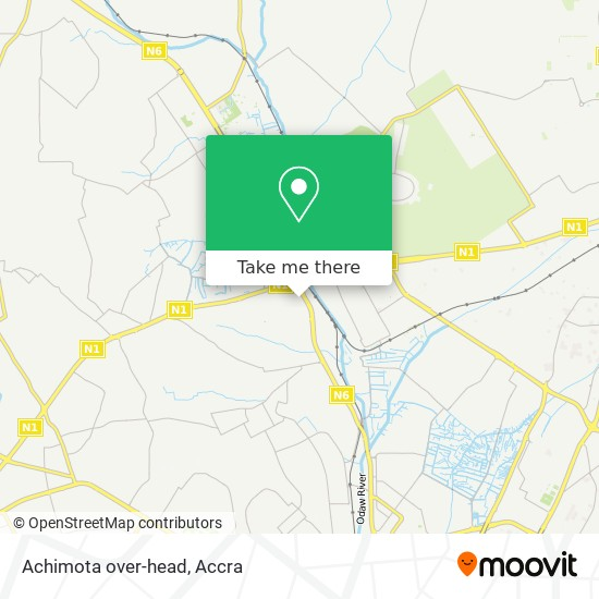 Achimota over-head map