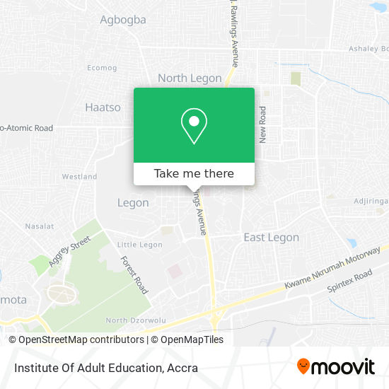 Institute Of Adult Education map