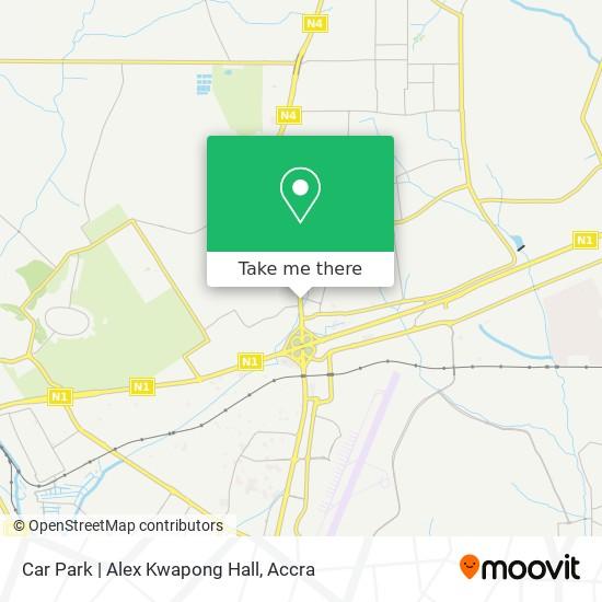 Car Park   Alex Kwapong Hall map