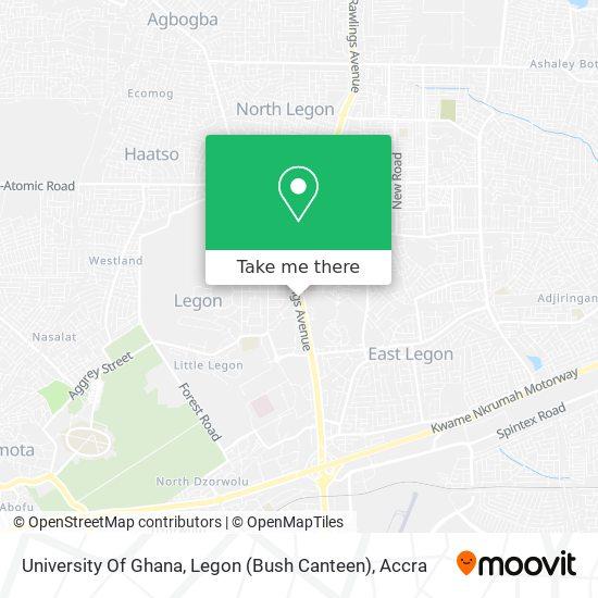University Of Ghana, Legon (Bush Canteen) map