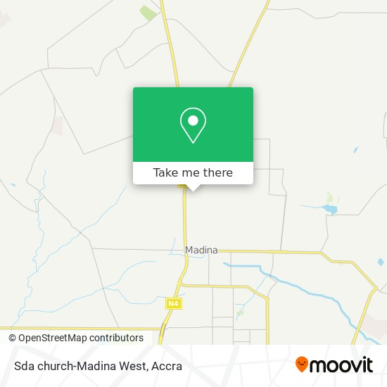 Sda church-Madina West map