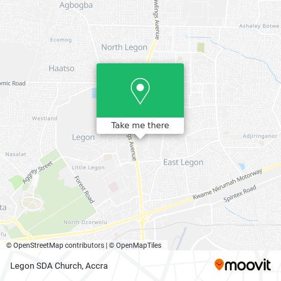 Legon SDA Church map