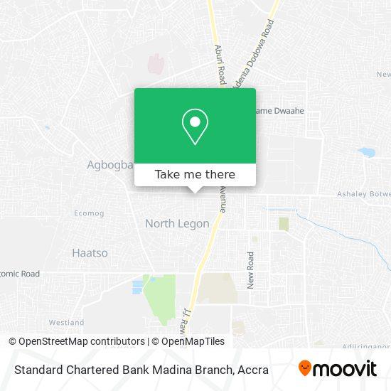 Standard Chartered Bank Madina Branch map
