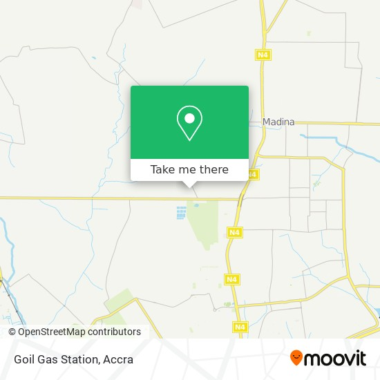 Goil Gas Station map