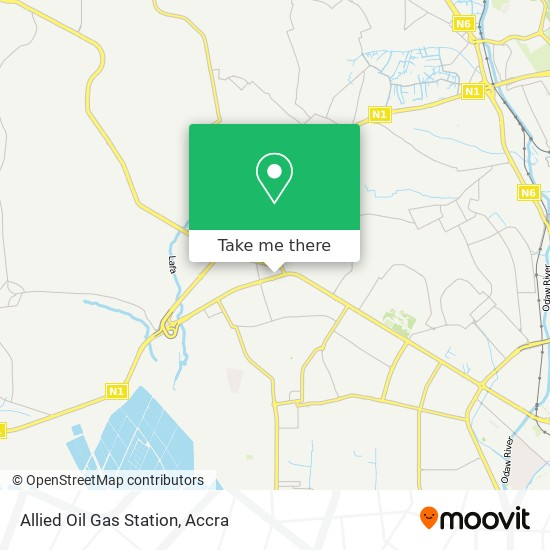 Allied Oil  Gas Station map