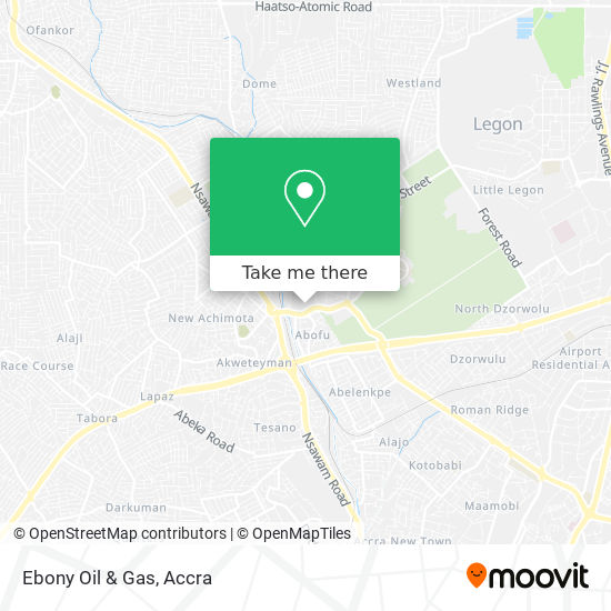 Ebony Oil & Gas map