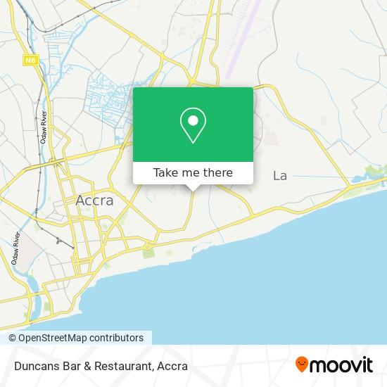 Duncans Bar & Restaurant map
