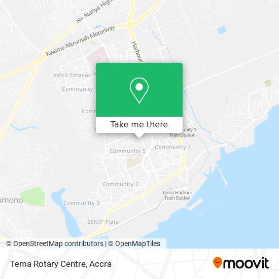 Tema Rotary Centre map