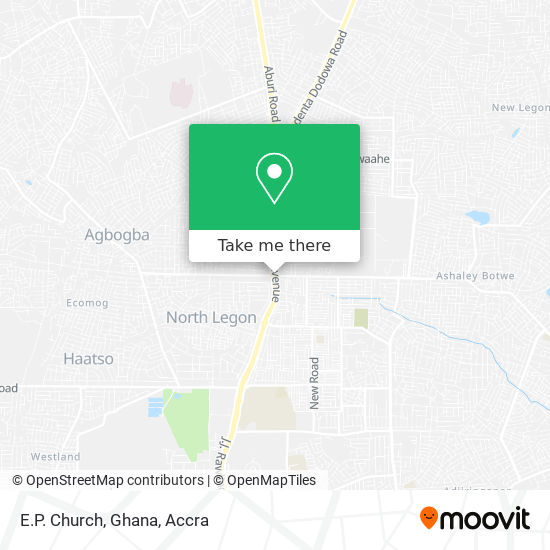 E.P. Church, Ghana map