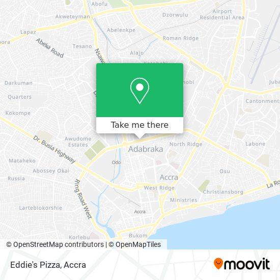 Eddie's Pizza map