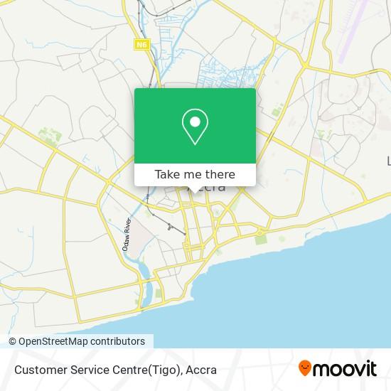 Customer Service Centre(Tigo) map