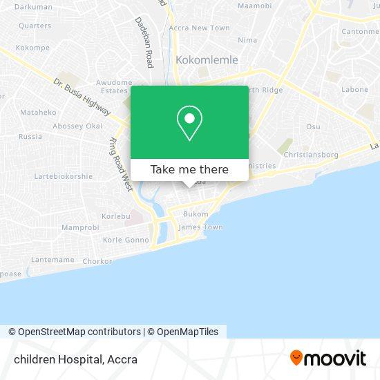 children Hospital map