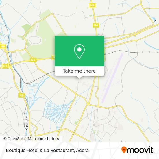 Boutique Hotel & La Restaurant map