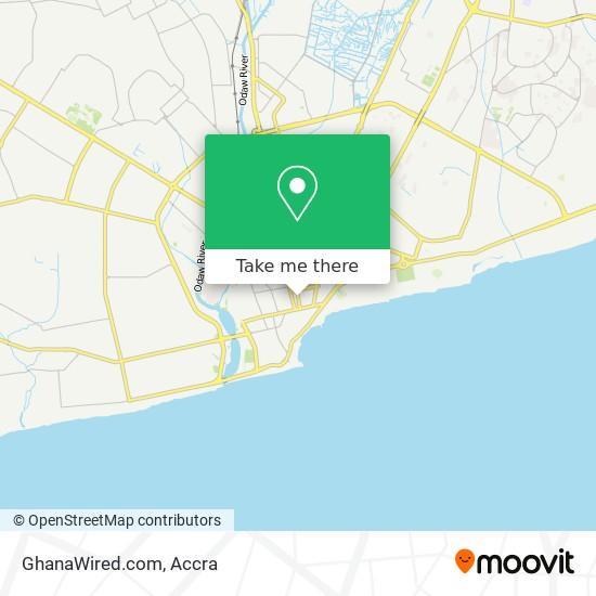 GhanaWired.com map