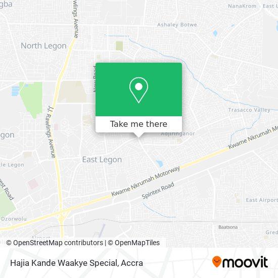 Hajia Kande Waakye Special map