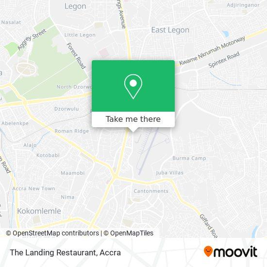 The Landing Restaurant map