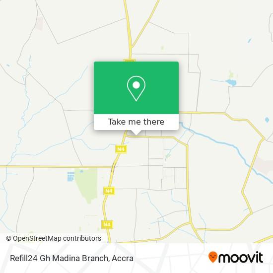 Refill24 Gh Madina Branch map