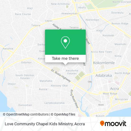 Love Community Chapel Kids Ministry map