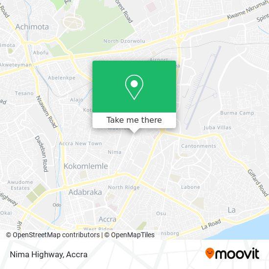 Nima Highway map