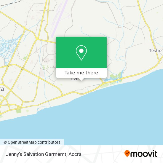 Jenny's Salvation Garmemt map