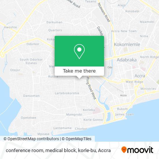 conference room, medical block, korle-bu map