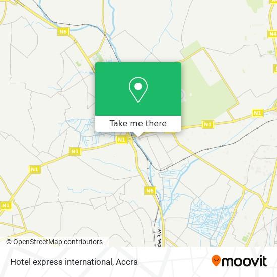 Hotel express international map