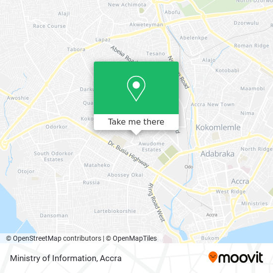 Ministry of Information map
