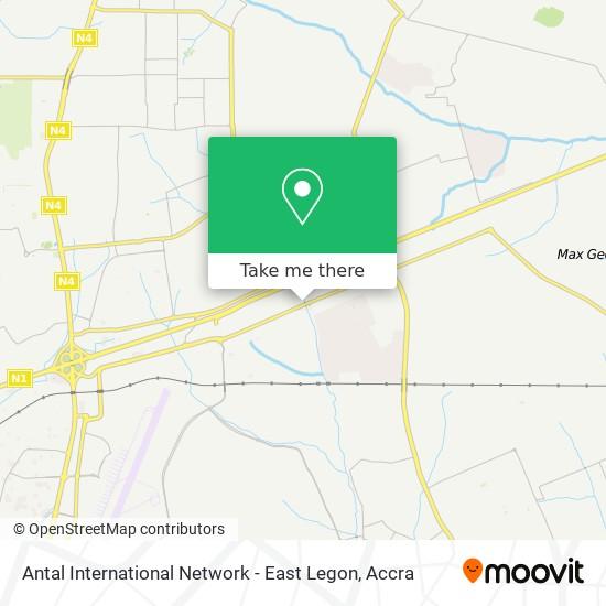 Antal International Network - East Legon map