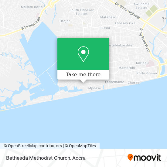 Bethesda Methodist Church map