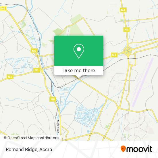 Romand Ridge map