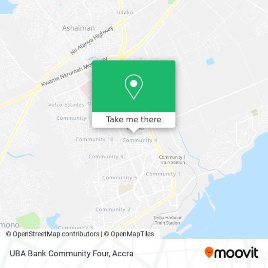UBA Bank Community Four map