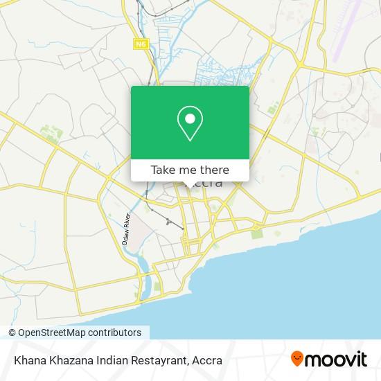 Khana Khazana Indian Restayrant map