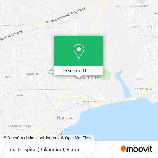 Trust Hospital (Sakumono) map
