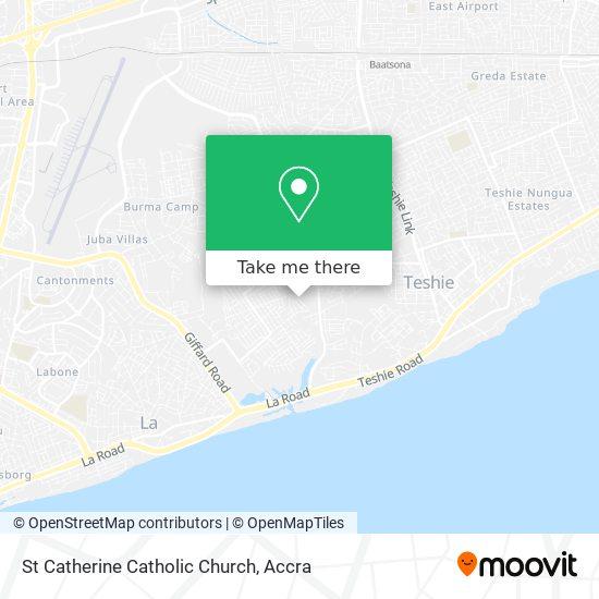 St Catherine Catholic Church map