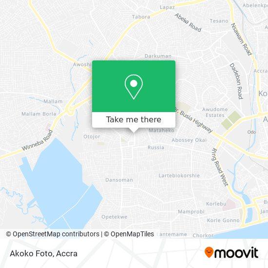 Akoko Foto map