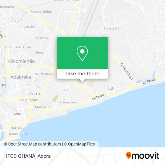 IFDC GHANA map