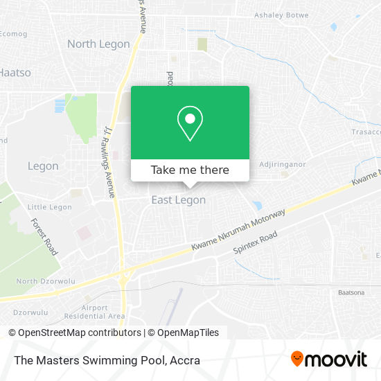 The Masters Swimming Pool map