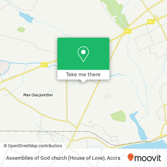Assemblies of God church (House of Love) map