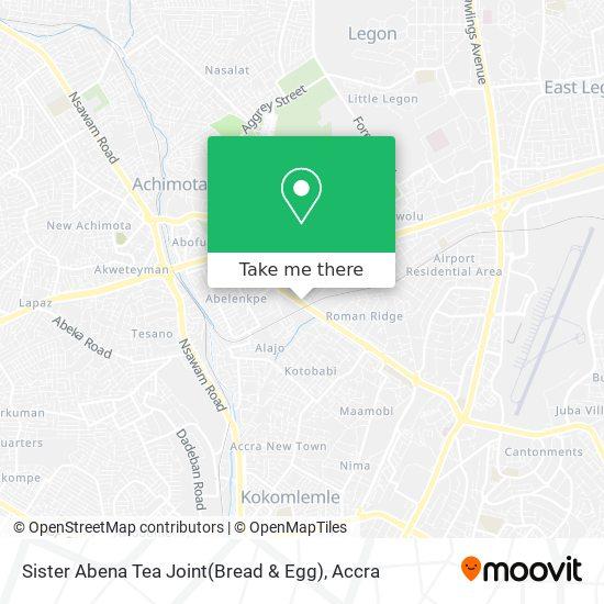 Sister Abena Tea Joint(Bread & Egg) map