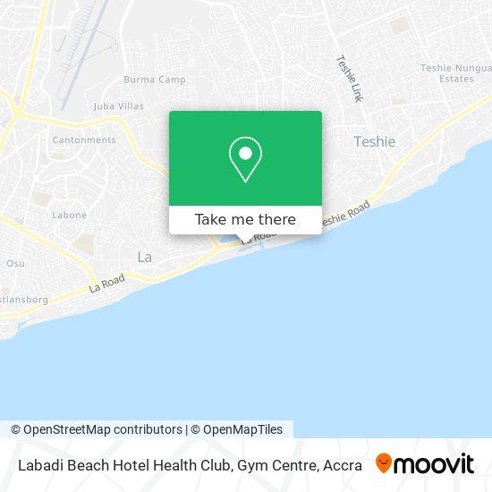 Labadi Beach Hotel Health Club, Gym Centre map