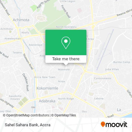 Sahel Sahara Bank map