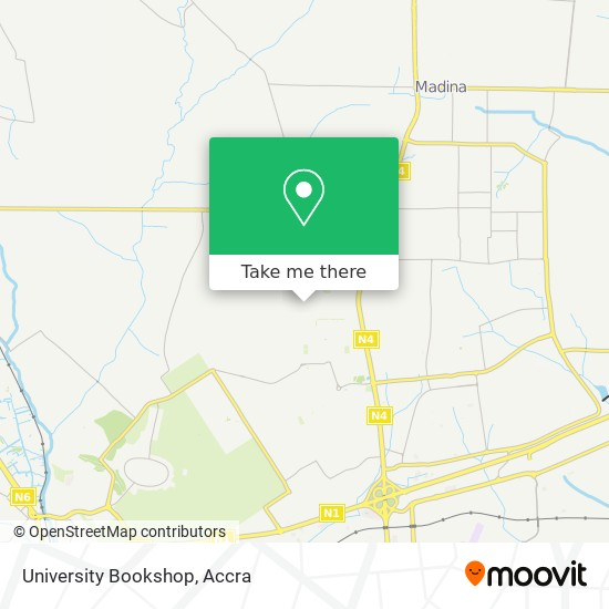 University Bookshop map