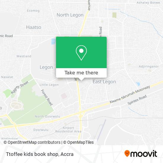 Ttoffee kids book shop map