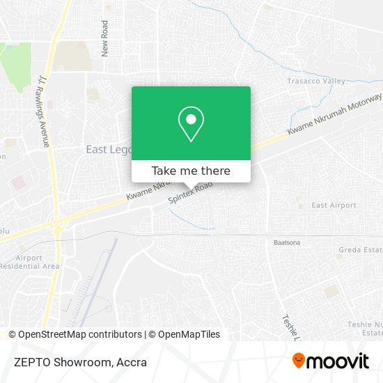 ZEPTO Showroom map
