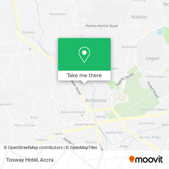 Tosway Hotel map