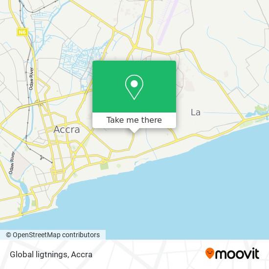 Global ligtnings map