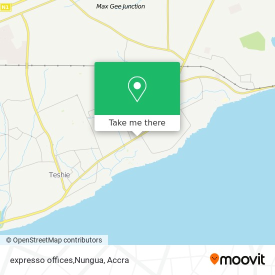 expresso offices,Nungua map