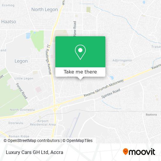 Luxury Cars GH Ltd map